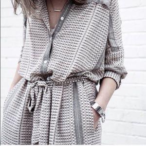 Ethnic print shirt dress,